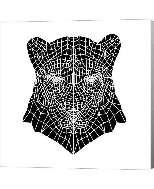 Metaverse Panther Head Mesh by Lisa Kroll Canvas Art