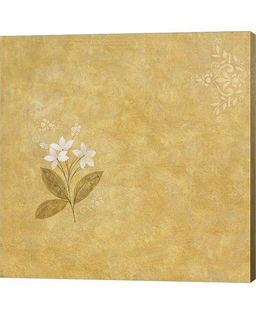 Metaverse White Flower on Gold by Pablo Esteban Canvas Art