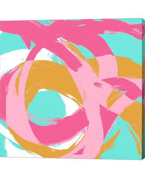 Metaverse Pink Circular Strokes I by Megan Morris Canvas Art