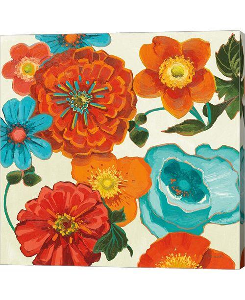 Metaverse Spring Collage Vignette by Shirley Novak Canvas Art