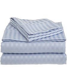 Superior Prestige 1500 Series Stripe Sheet Set - Full - White
