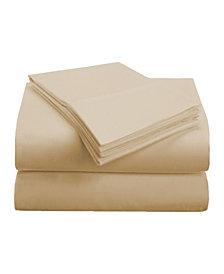 Superior Prestige 1500 Series Stripe Sheet Set - Queen - White