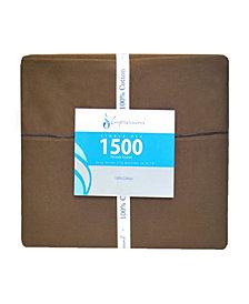 Superior 1500 Thread Count Cotton Solid Sheet Set - Queen