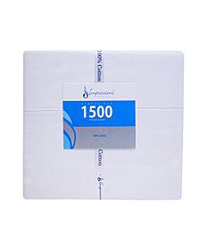 Superior 1500 Thread Count Cotton Solid Sheet Set - King