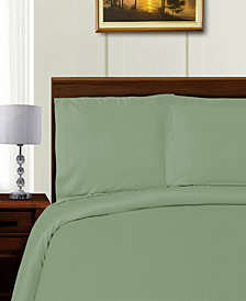 Superior 1000 Thread Count Tencel, Polyester Solid Duvet Cover Set - White