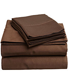 Superior 400 Thread Count Premium Combed Cotton Solid Sheet Set - Full