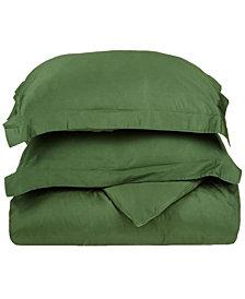 Superior 400 Thread Count Premium Combed Cotton Solid Duvet Set - Full/Queen