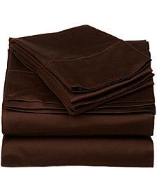 Superior 530 Thread Count Premium Combed Cotton Solid Sheet Set - Queen - White