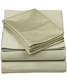 Superior 530 Thread Count Premium Combed Cotton Solid Sheet Set - California King - White