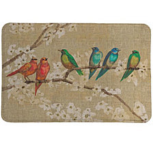 Birds And Blossoms Memory Foam Rug