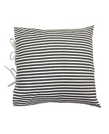 "Thro Polyester Fill Tina Ticking Stripe Tie Pillow, 22"" x 22"""