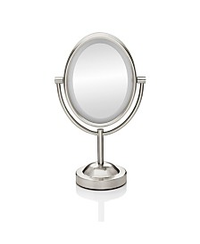 Conair Double-Sided Lighted Oval Mirror