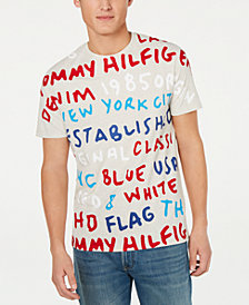 Tommy Hilfiger Men's Text Graphic T-Shirt, Created for Macy's