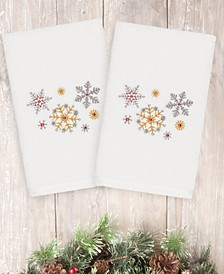 Christmas Snowfall 100% Turkish Cotton 2-Pc. Hand Towel Set