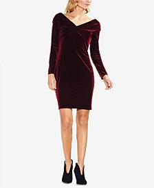 Vince Camuto Crossover Velvet Dress