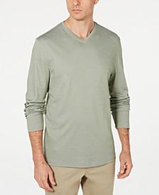 Men's Supima® Blend Knit V-Neck Long-Sleeve T-Shirt, Created for Macy's