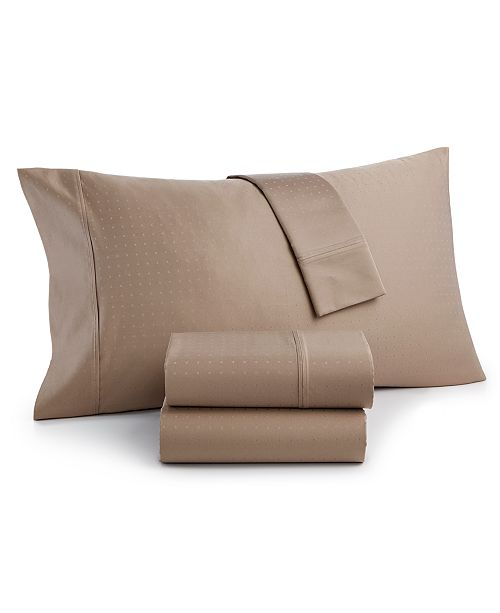 Charter Club CLOSEOUT! Sleep Luxe 700 Thread Count, Dobby Dot 4-PC Queen Sheet Set, 100% Egyptian Cotton, Created for Macy's