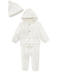 First Impressions Baby Boys & Girls Fleece Cap, Hooded Jacket & Jogger Pants, Created for Macy's