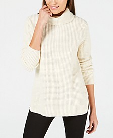 Cashmere Textured Turtleneck Sweater