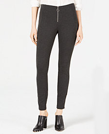 Bar III Ponté-Knit Skinny Pants, Created for Macy's