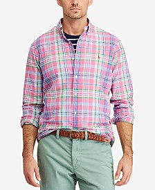 Polo Ralph Lauren Men's Big & Tall Classic Fit Plaid Cotton Oxford Shirt