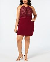 5ed2657916846 Morgan & Company Plus Size Sequin Lace Bodycon Dress