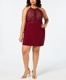 Morgan & Company Plus Size Sequin Lace Bodycon Dress