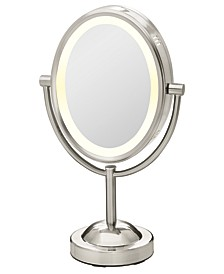Double-Sided 1x/7x Magnified Oval Mirror