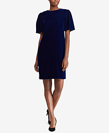 Lauren Ralph Lauren Velvet Shift Dress