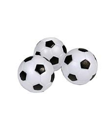 Soccer Ball Style Foosballs, 3-Pack