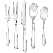 Annotto Satin Mirror 45-Piece Flatware Set, Service for 8