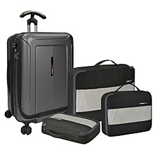 """Barcelona 4PC Luggage Set w/ 22"""" Spinner"""