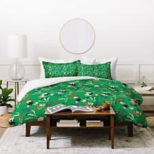 Deny Designs Holli Zollinger Anthology Of Pattern Seville Garden Green Twin Duvet Set