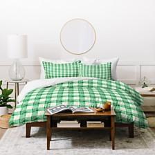 Deny Designs Holli Zollinger Anthology Of Pattern Seville Gingham Green Twin Duvet Set