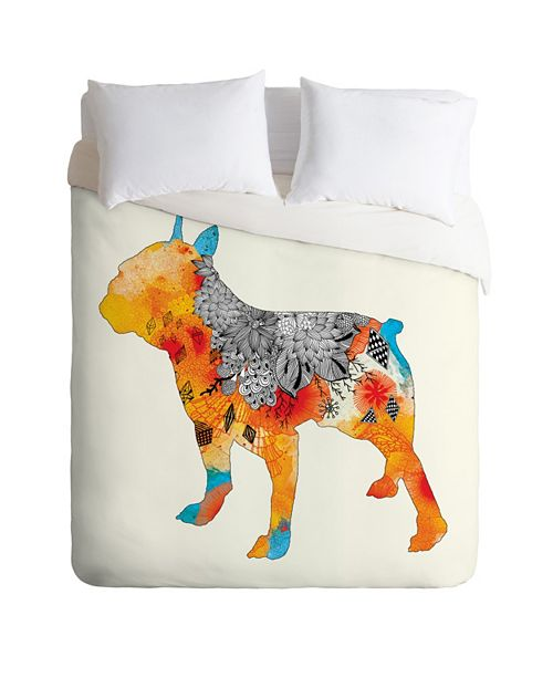 Deny Designs Iveta Abolina Frenchie King Duvet Set