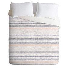 Deny Designs Holli Zollinger French Linen Stripe Navy Queen Duvet Set