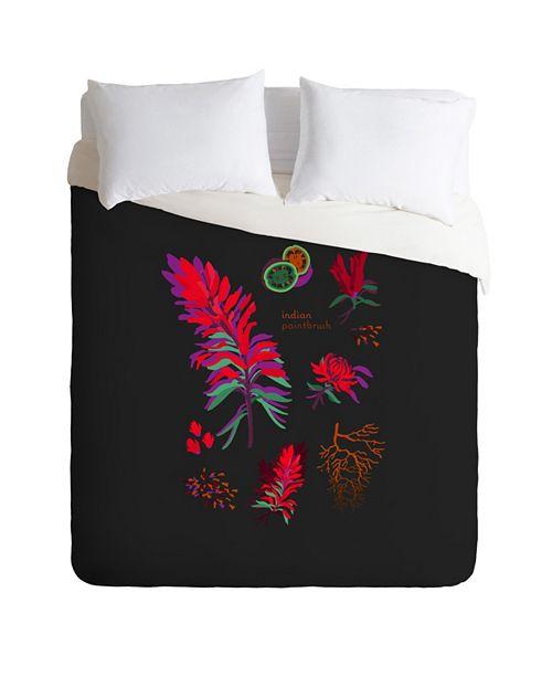 Deny Designs Holli Zollinger Desert Botanical Indian Paintbrush King Duvet Set