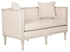 Leandra Linen French Country Settee