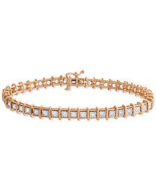 Diamond Miracle Plate Tennis Bracelet (2 ct. t.w.) in 14k Rose Gold