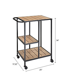 Dandy Metal Cafe Cart with Wood Shelves