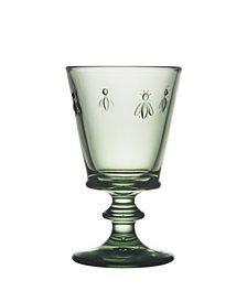 La Rochere Napoleon Bee Verdigris 9 oz. Wine Glass, Set of 6