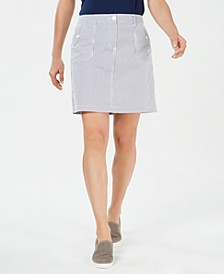 Corded Striped Skort, Created for Macy's