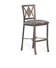 "Alexander 30""H Metal Barstool, Cushion Seat"