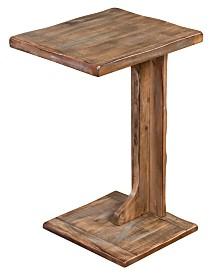 Arizona Weathered Brown Sofa Mate Table