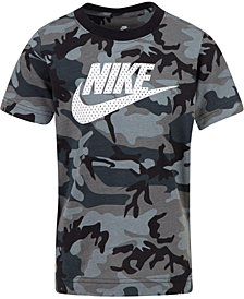 Nike Little Boys Camo-Print Cotton T-Shirt