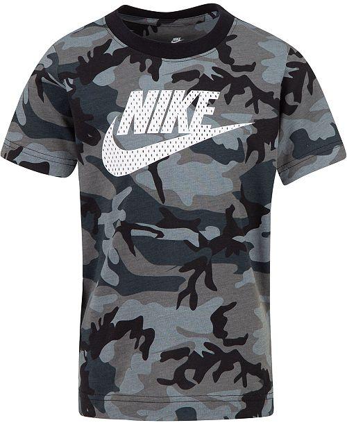 8599577d6 Nike Little Boys Camo-Print Cotton T-Shirt & Reviews - Shirts - Kids ...