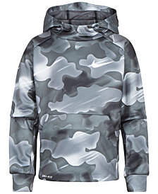 Nike Little Boys Camo-Print Therma Pullover Hoodie