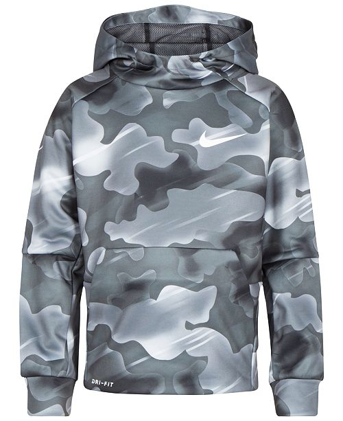 e214d7d00a9f Nike Little Boys Camo-Print Therma Pullover Hoodie   Reviews ...