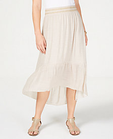 JM Collection High-Low Skirt, Created for Macy's