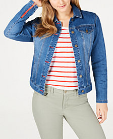 Charter Club Frisco Zip-Cuff Denim Jacket, Created for Macy's